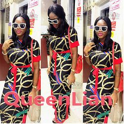 2017 Baru Afrika Cetak Elastis Bazin Celana Baggy Rock Gaya Dashiki Gaun Panjang Terkenal Cocok untuk Wanita (XLGQ02 #)