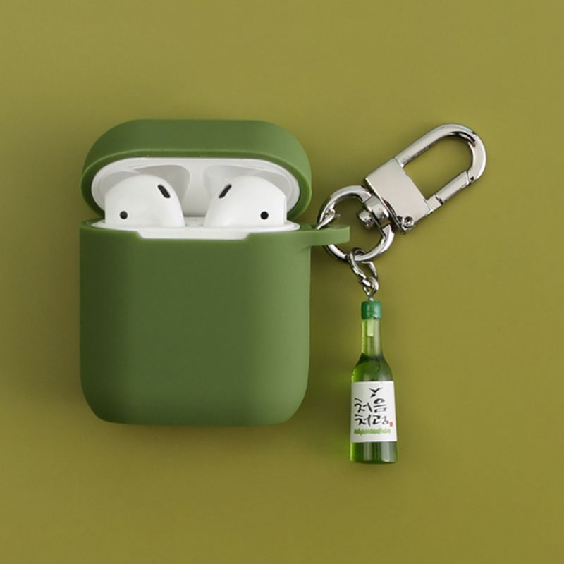 Cool Wine bottle Decorative Silicone Case for Apple Airpods Accessories Protective Cover Bluetooth Earphone Case box bag decor