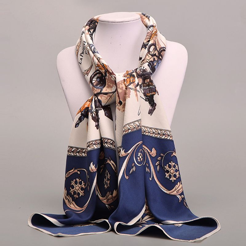 [Sumeike] sarga pañuelo seda de mujer de marca original de la mujer envuelve chales bufandas de primavera verano femenino