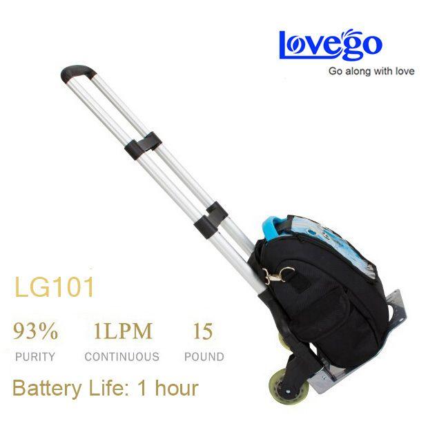 2 pilas + 2 cargador + Lovego concentrador de oxígeno portátil