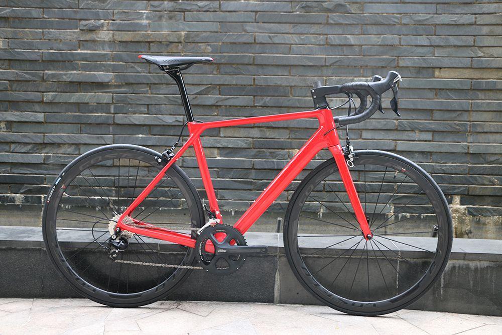New arrival SLX Carbon road bicycle handlebar complete bike 38mm carbon clincher 3k wheels saddle