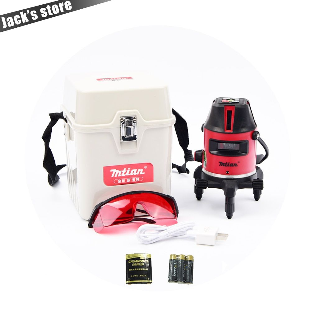 Only Russia! 2017 New model (with lithium <font><b>batteries</b></font>),10X-light 5 lines 6 points laser level 360 rotary cross laser line leveling
