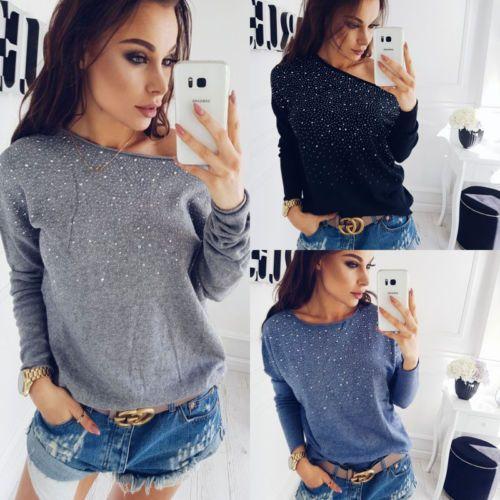 Женские свободные с длинным рукавом Кардиган вязаный свитер джемпер пальто трикотаж размер S-XL