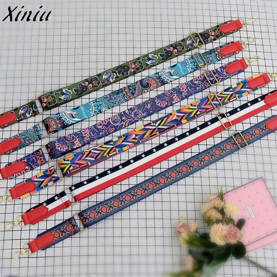 Bag Strap Women Colorful Cotton Boho Chain Strap Belt for Shoulder Bag Convenient Handbag Accessories #7620