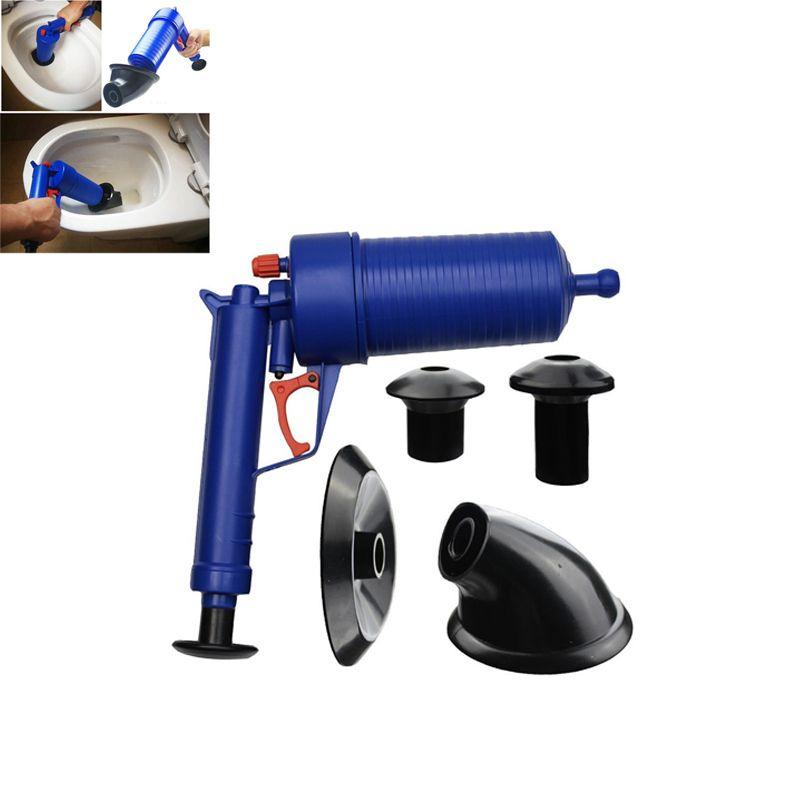 HOT-Air Power Drain Blaster gun High Pressure Powerful Manual sink Plunger Opener cleaner pump for Bath <font><b>Toilets</b></font> Bathroom Shower