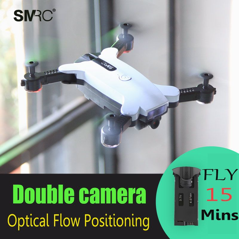 New product SMRC S6 drone with HD 720P wifi Double camera 2MP Gesture photo Optical flow positioning Smart follow me Helicopter