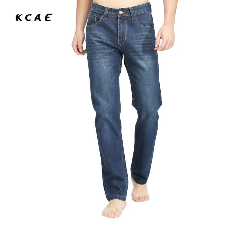 New men's jeans Europe and the United States trendy Fashion straight jeans Men's seasons Blue denim pants Size 33 34 36 38 40
