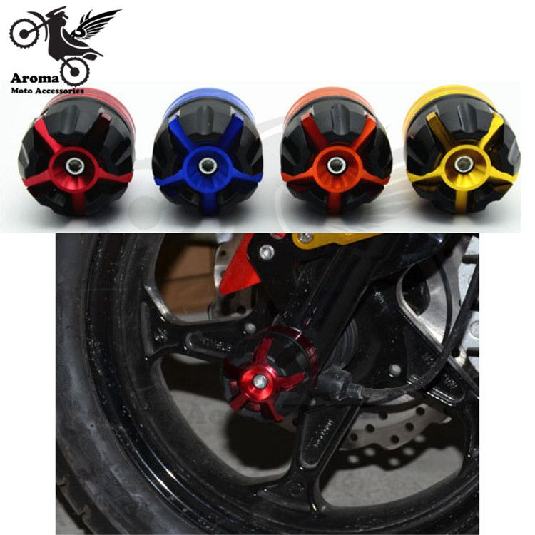 Hot moto crash pads Protecteur coloré moto crash protecton motocross crash pad roue cadre curseur moto fourche avant