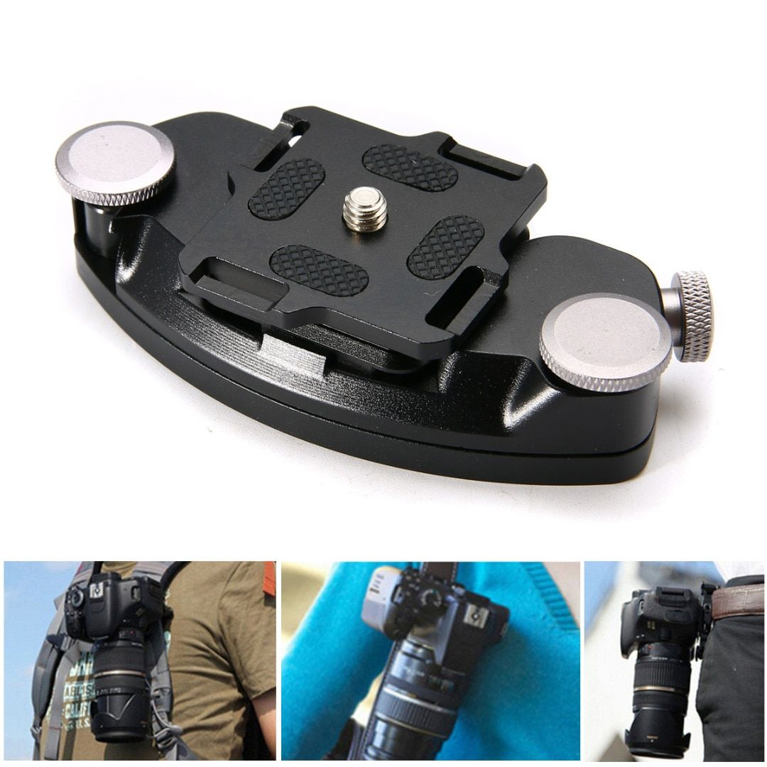 1pc Quick Release Aluminum Waist Belt Strap Buckle Holder High Quality DSLR Camera Button Mount Clip New Arrival Mayitr