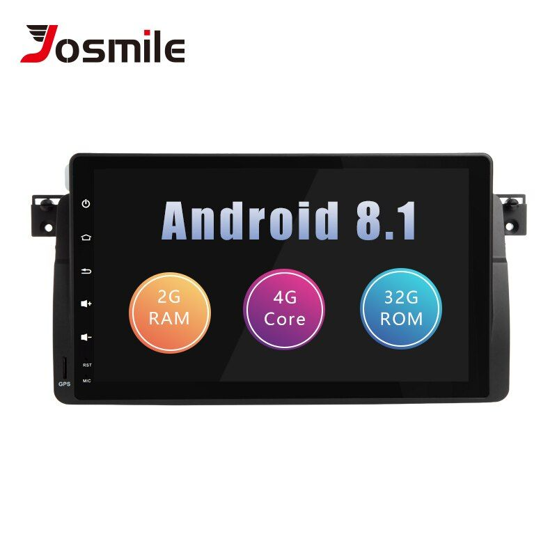 Josmile Auto Multimedia-Player 1 Din Android 8.1 Für BMW E46 M3 Rover 75 Coupe Navigation GPS DVD Auto Radio 318 /320/325/330/335