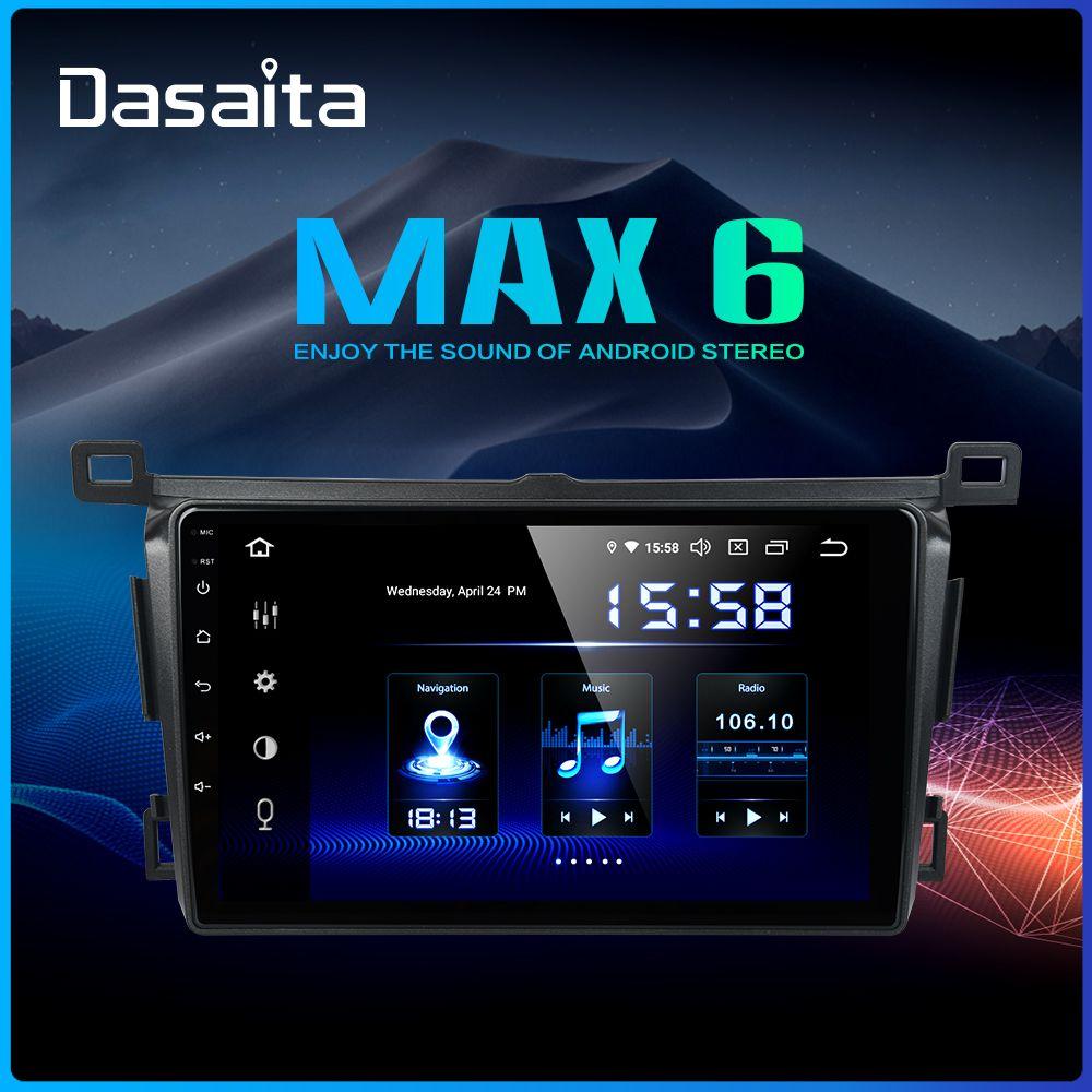 Dasaita 9 Auto-Radio-Player 1 Din Android 9.0 für Toyota RAV4 2014 2015 2016 2017 2018 TDA7850 64GB ROM 4GB RAM GPS Navigation
