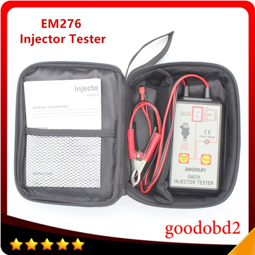 Fuel Injector Tester EM276 Car Car Fuel Injector System Analyzer Scan Tool with 4 Pluse Modes