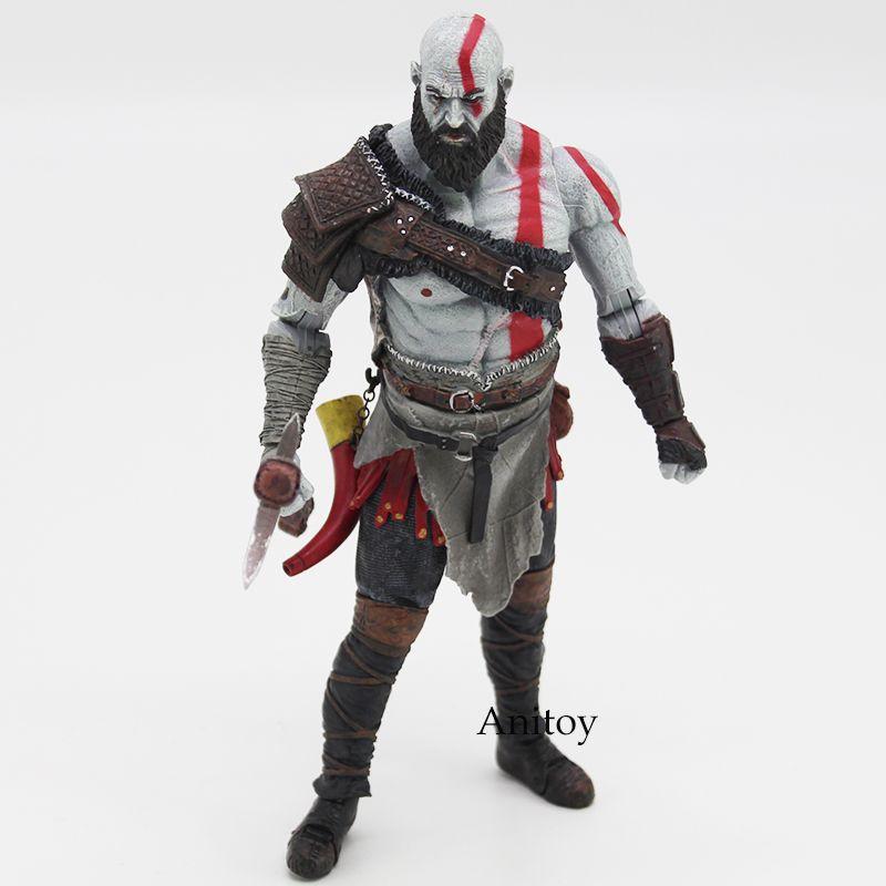 Original God of War 4 Kratos PVC Action Figure Collectible Model Toy <font><b>7inch</b></font> 18cm