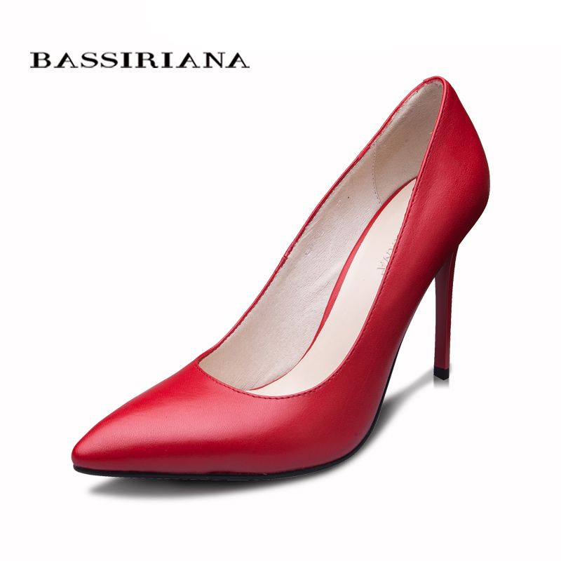 BASSIRIANA 2016 New High-heeled Shoes Woman Pumps Wedding Shoes Fashion Sexy <font><b>Women</b></font> Shoes Classic Black High Heels