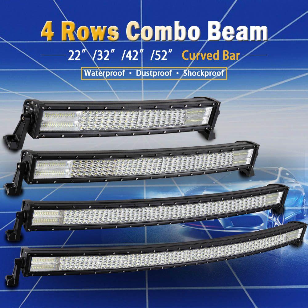 Real Power 22 32 42 52 inch 4 Rows Led Bar for Off Road 4x4 4WD ATV UTV SUV Truck Auto Led Light Bar Car LED Work Light