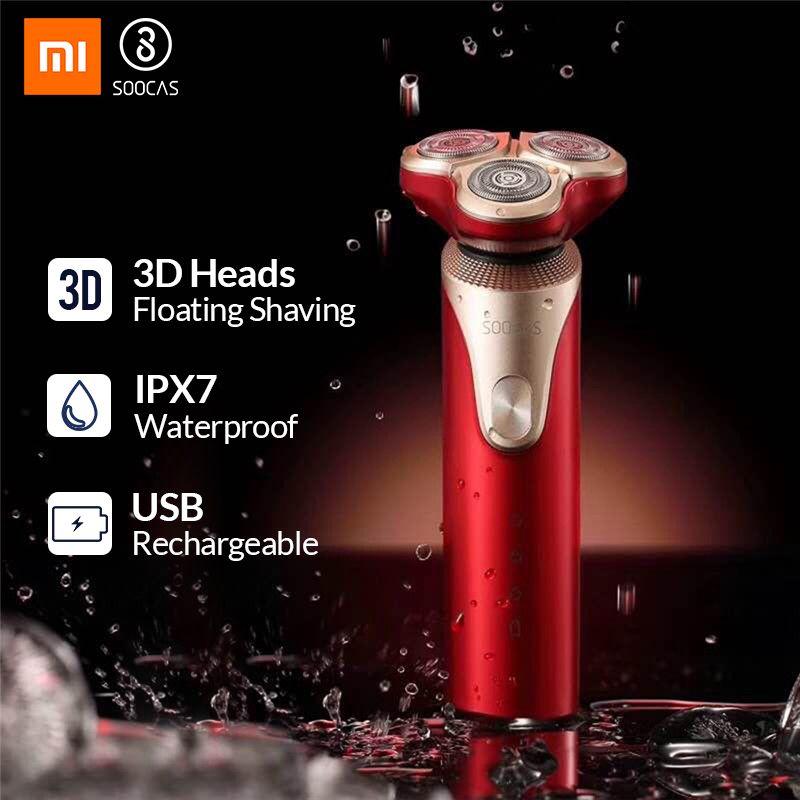 SOOCAS S3 rasoir électrique rasoir électrique 3 tête de coupe sèche humide rasage intelligent USB Rechargeable étanche rasoir hommes pour youpin