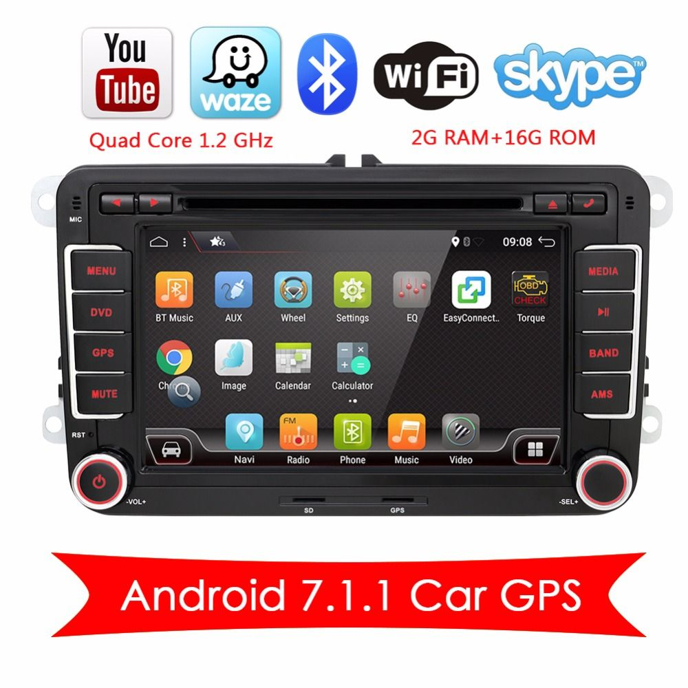 Bosion 2 DIN Android 7.1.1 Car Multimedia Decoder DVD Radio MP3 GPS NAVI For Volkswagen VW T5 Golf Passat Touran Polo EOS Caddy