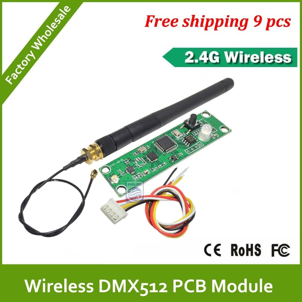 DHL Fast  Free Shipping 2.4G PCB DMX-512 Controller module for Upgrading DMX512 stage lighting