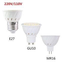 Super Bright GU 10 GU10 GU5.3 Levou Holofotes Lâmpada LED Light Bulb MR16 4 w 6 w 8 w 220 v 110 v 120 v 2835 SMD E27 Lampada Levou Luz de Velas