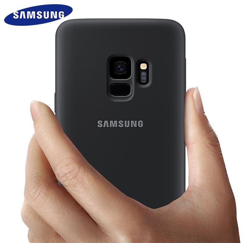 Samsung Galaxy S9 S8 plus Cas Silicone D'origine Couverture Arrière S 9 S 8 plus g9550 9500 De Protection Anti- porter