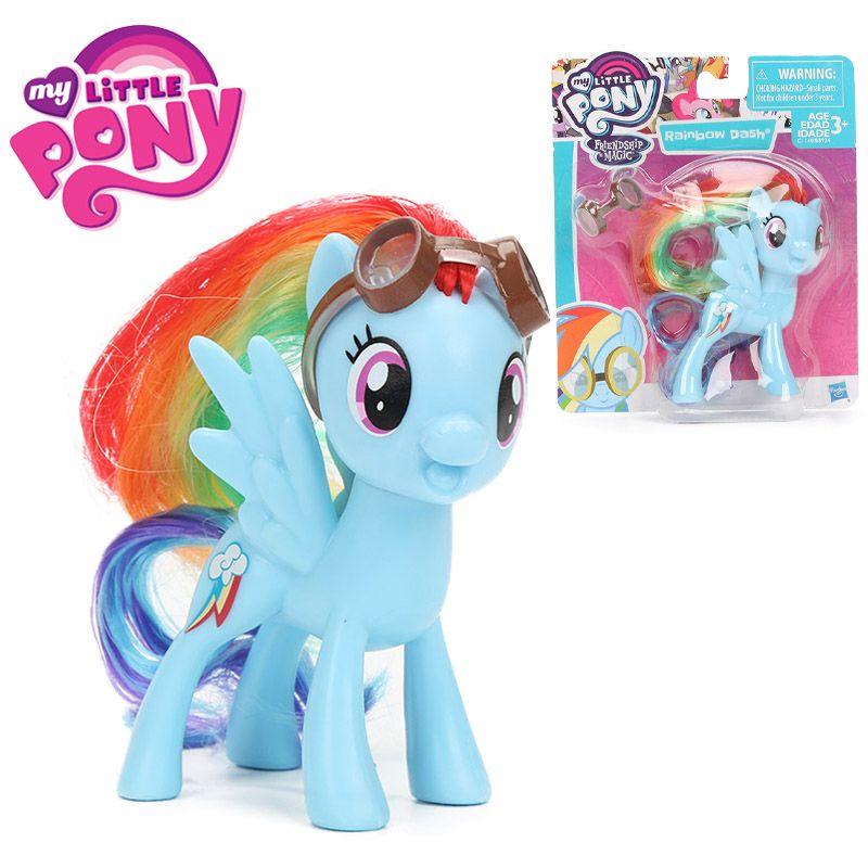 My Little Pony Toys Friendship is Magic Rainbow Dash Applejack Fluttershy Cheerilee PVC Action Figures Collectible Model Dolls