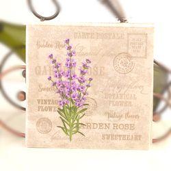 Vintage Lavender Flower Stamp Paper Napkins Cafe&Party Tissue Napkins Decoupage Decoration Paper 33cm*33cm 20pcs/pack/lot