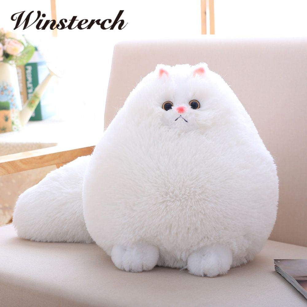 Fun Plush Fluffy Cats Persian Cat Toys Pembroke <font><b>Pillow</b></font> Soft Stuffed Animal Peluches Dolls Baby Kids Toys Gifts Brinquedos WW108