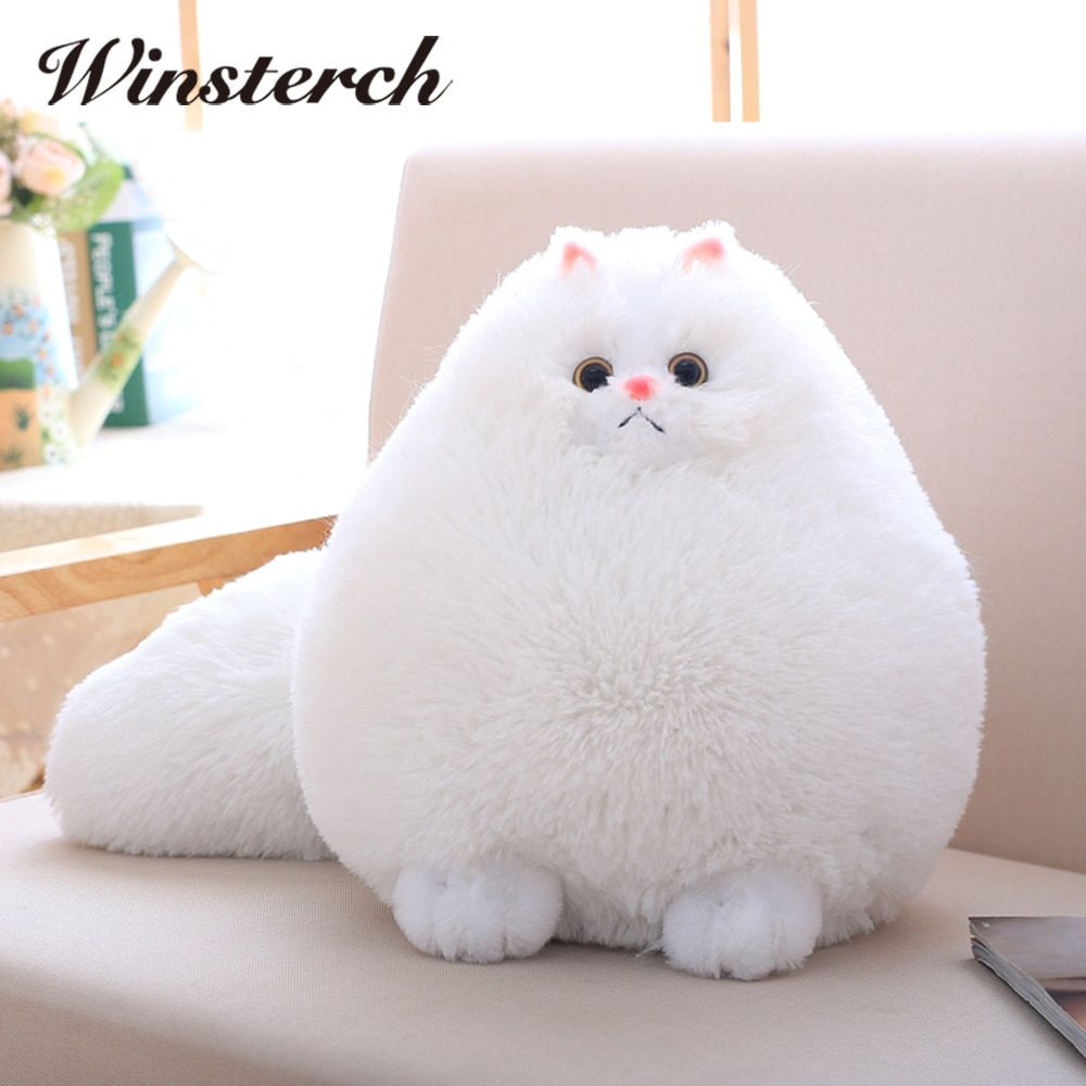 Plush Fluffy Persian Cat Toys Pembroke Pillow Soft Stuffed Cat Animal Toys Baby Kids Toys Christmas <font><b>Gifts</b></font> Brinquedos WW108