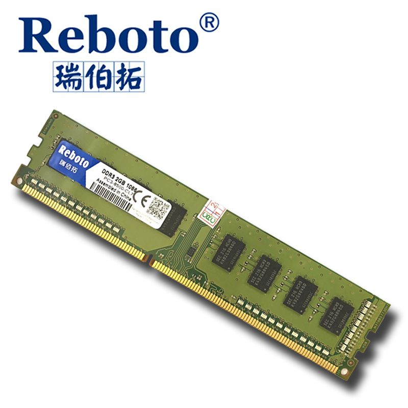 Reboto DDR3 2GB 1333 1066 1600 MHZ pc-8500u for Desktop RAM Memory 240pin compatible with good Desktop for Intel and AMD