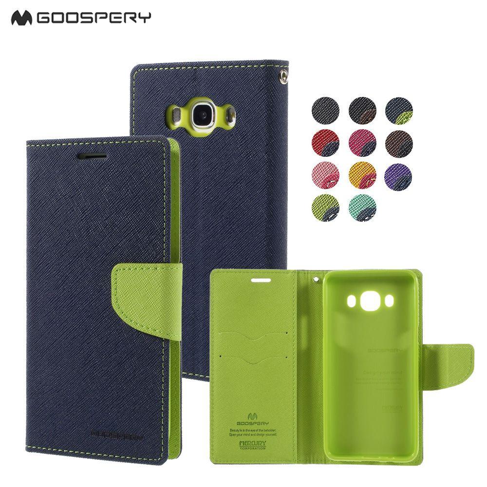 Mercury Goospery Double Color Leather Flip Case Cover For Samsung Galaxy S4 S5 S6 S8 A3 A5 A7 J1 J3 J5 J7 2016 2017 Prime Edge