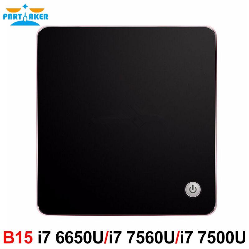 Windows 10 DDR4 Nuc NGFF SSD 5G AC Wifi Bluetooth HTPC HDMI Mini DP Mini PC avec Ventilateur De Refroidissement Intel Core i7 6650U 7560U i5 7200U
