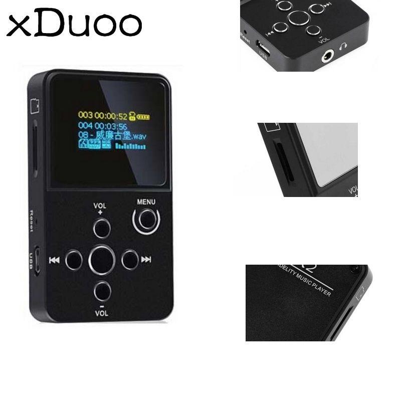 XDuoo X2 HiFi MP3 Digital Audio Player mit OLED Bildschirm TF Karte Slot Aluminium Legierung Gehäuse