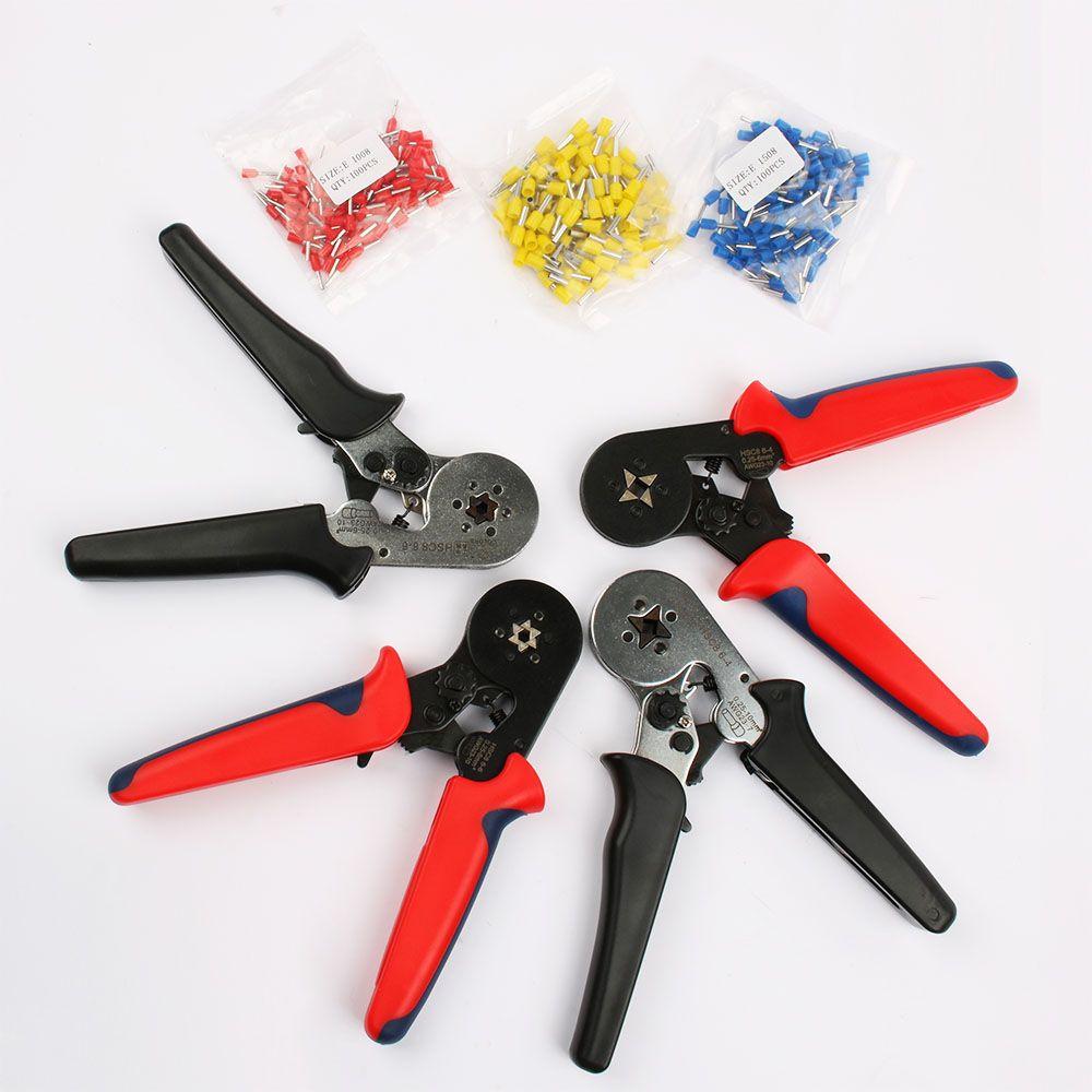 FASEN HSC8 6-4 HSC8 6-6 SELF-ADJUSTABLE MINI-TYPE QUETSCHVERBINDENZANGE 0,25-6mm2 Zangen handwerkzeuge terminals 1008 rot 1508 Blau 2508Y