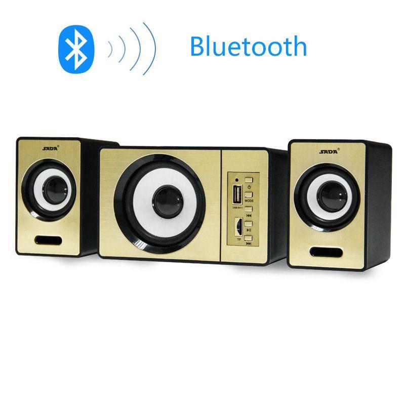 SADA D-200D Plus Bluetooth/AUX/TF/USB Speakers 2.1 3 Channel Subwoofer Multimedia Sound Box For Computer Laptop MP3 USB Power