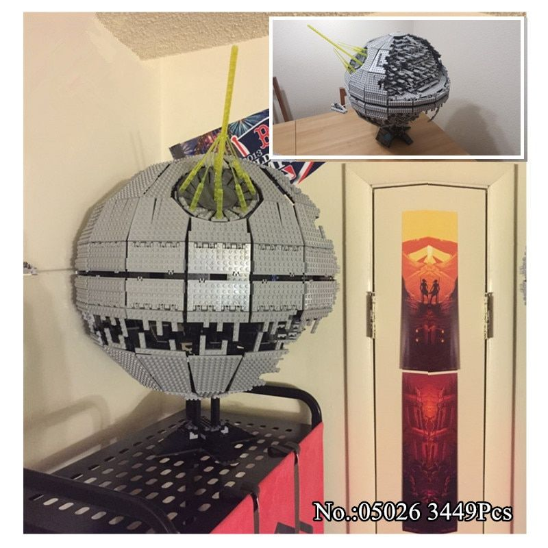 H&HXY IN STOCK 3449pcs 05026 Death star Building Block Bricks Toys Kits Compatible with 10188 Child LE <font><b>Gift</b></font> PIN