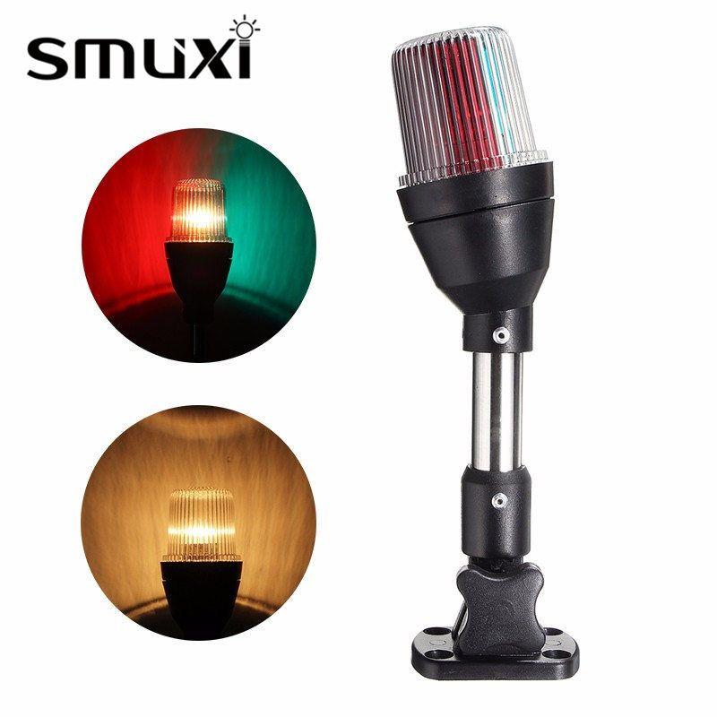 Smuxi 10 Вт Понтон Лодка лампы береговой линии морской раза Подпушка короче якорь светло-красный зеленый Освещение Водонепроницаемый IP65 DC12V