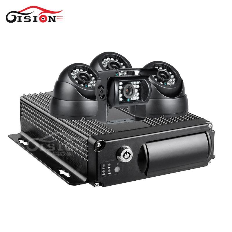 4 STÜCKE 2.0MP AHD Auto Kamera + 4G GPS Wifi 4CH Mobile Dvr Kits Echtzeit Video CCTV Überwachung Wiedergabe Radfahren Rekord Dual SD