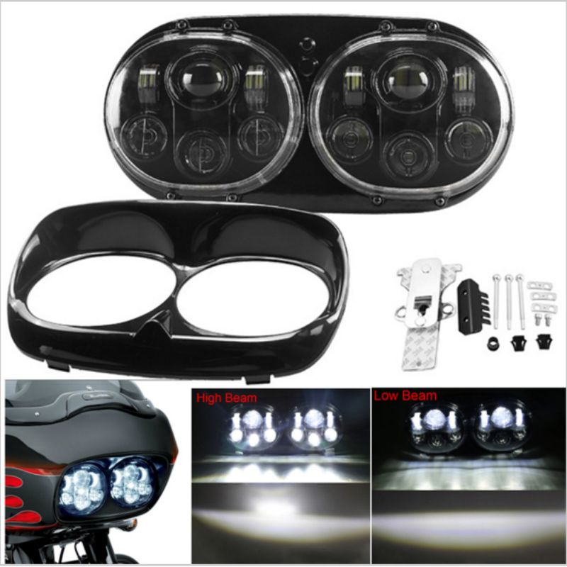 Harley's lights Road glide LED Headlight Harley accessories headlight High/Low Double Headlight For Harley Road Glide