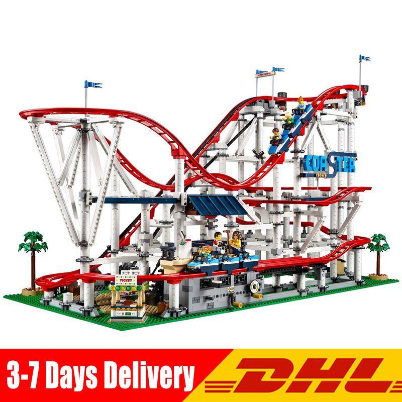 4619Pcs Girl Playground Roller Coaster Set Buidling Blocks Bricks Kid Toys Compatible Legoingly 10261 Toy Gift Model