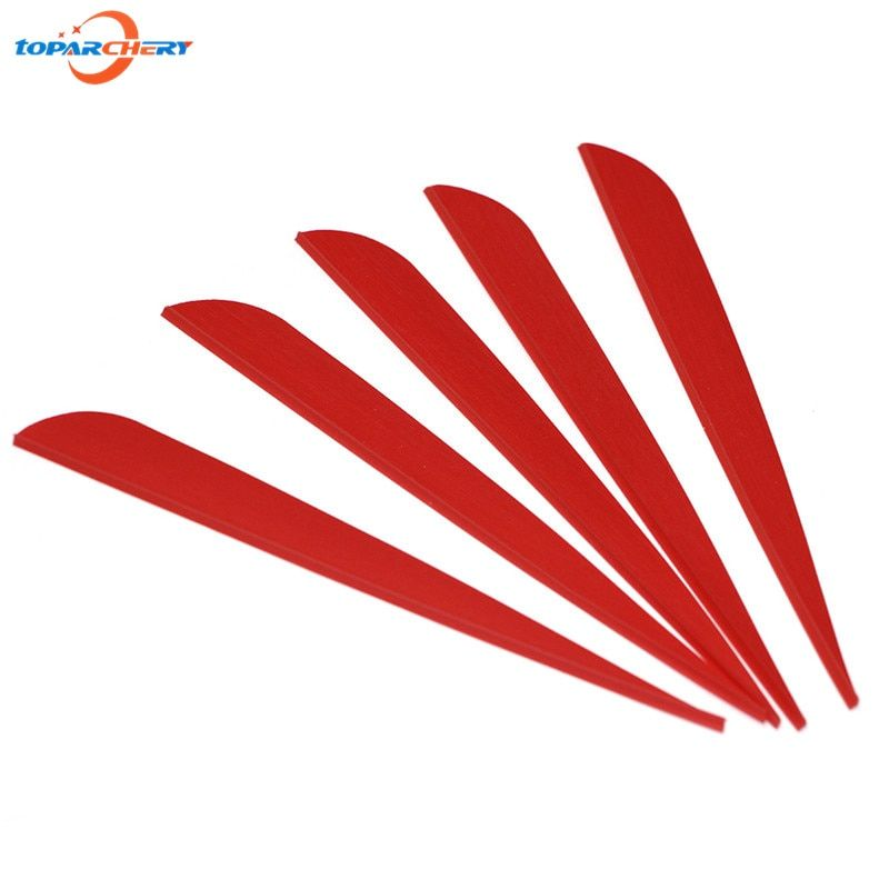 100pcs Drop Shape Fletching Plastic Feathers 5'' for Arrows Archery Hunting Shooting Training Target Practice Games Feathers