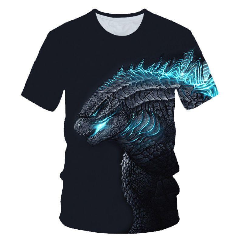 2019 chaud enfants d'été t-shirt Dabbing drôle godzilla dessin animé à manches courtes T-Shirts pour garçons filles hauts enfants t-shirt 4-15 ans
