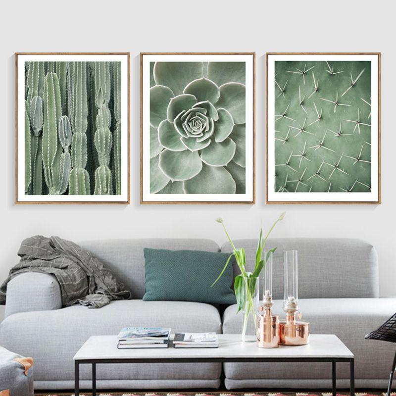 Nordic Зеленый Кактус Плакаты и отпечатки стены Книги по искусству холст картины plantas отпечатки на холсте Книги по искусству настенные панно д...