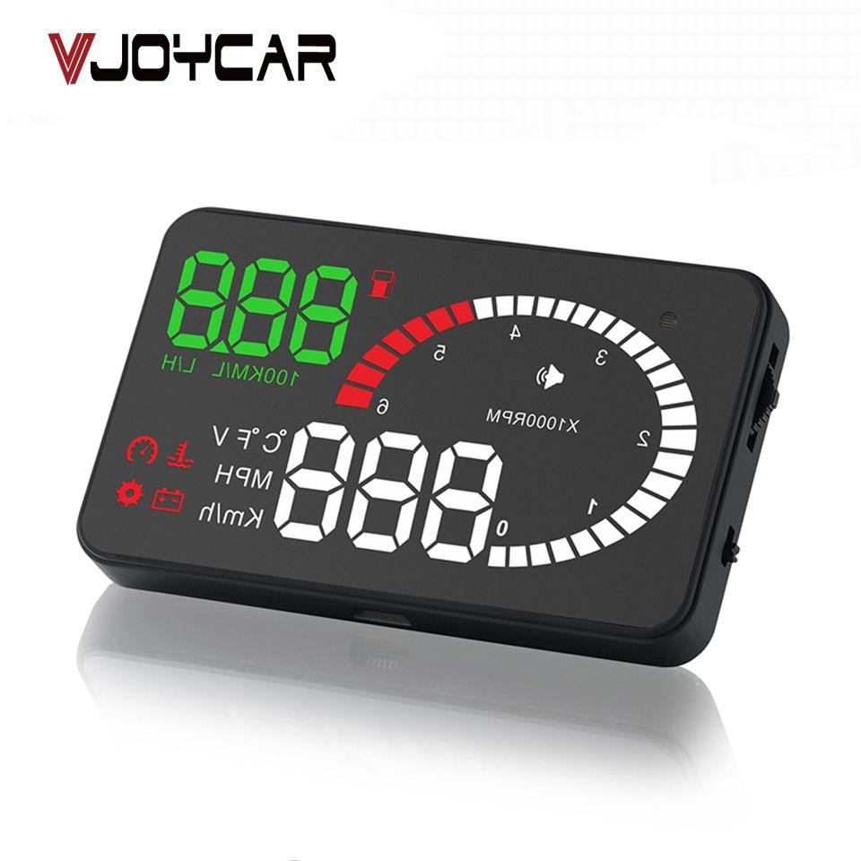 VJOYCAR X6 3 Auto Hud Head Up Display OBD Car Speedometer OBD2 Speedo Over Speed <font><b>Voltage</b></font> Alarm Windshield Projector OBDii Plug