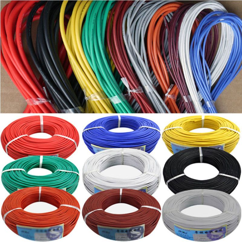 300 meters/roll (984ft) 30AWG high temperature resistance Flexible silicone wire tinned copper wire RC power Electronic cable
