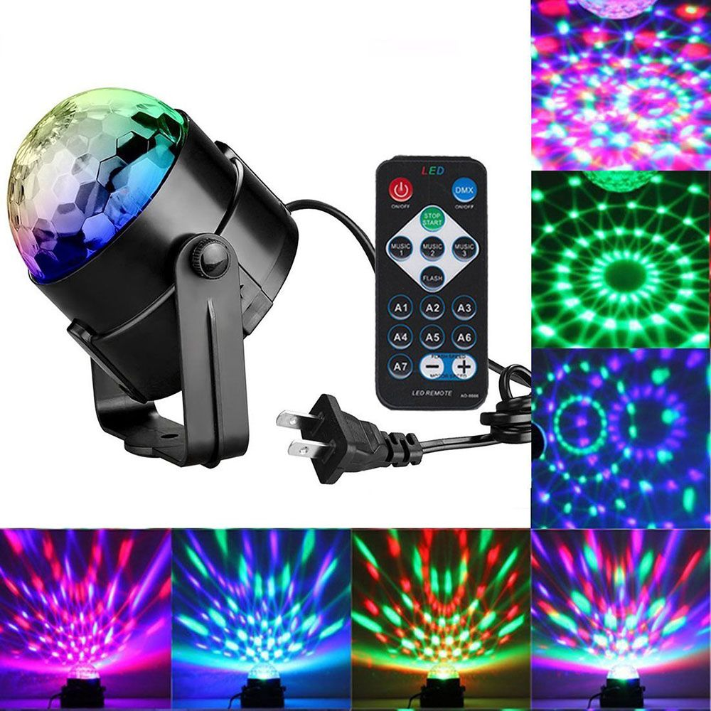 Couleurs Disco lumière rvb éclairage de scène projecteur rotatif lampe à bille contrôle Distant EU/US/UK prise pour fête KTV lumières de scène