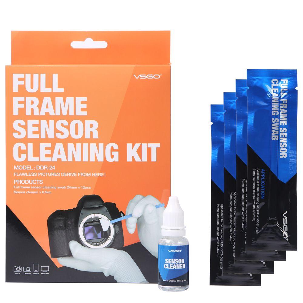 Cadre complet DSLR SLR Caméra Capteur CCD/CMOS kit de nettoyage VSGO DDR-24 pour appareils photo numériques Matrice Propre
