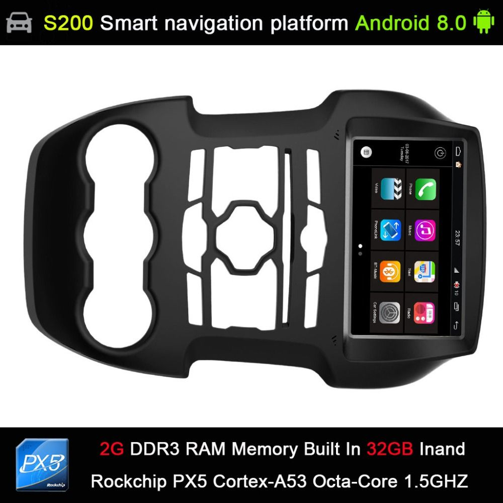 auto Android 8.0 system PX5 Octa 8-Core CPU 2G Ram 32GB Rom Car DVD Radio GPS Navigation for FORD Ranger 2011-2015