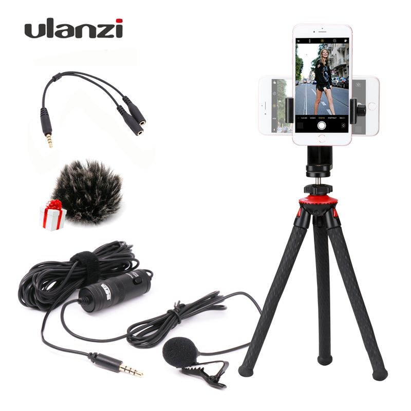 Boya BY-M1 6m Label Lavalier Condenser Microphone 3.5mm with Octopus Tripod for iPhone Smartphones Dslr/Recorder/Camcorders