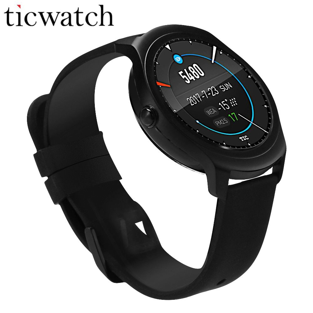 Ticwatch 2 GPS Smart Watch Bluetooth 4.1 MT2601 Heart Rate Monitor Smartwatch for iOS & Android IP65 Waterproof wearable devices