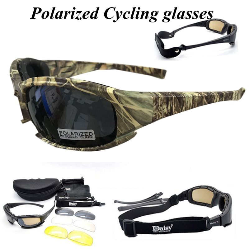 D A I S Y. X7 Glasses Polarized Sports Men Sunglasses Mountain Bike Bicycle Riding UV <font><b>Protect</b></font> Cycling Glasses